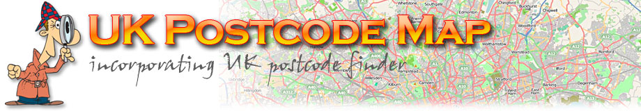 UK postcode map
